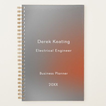 Minimalist Professional Electrical Engineer Planner - consultant business job profession diy customize