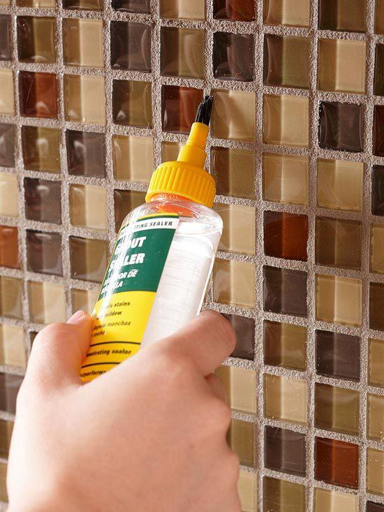 How To Tile Your Backsplash Home Bathroom Pinterest Grout - Best way to apply grout sealer