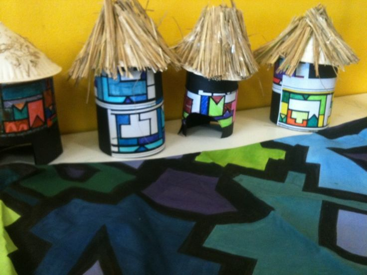 african crafts for kids | was inspired to get my girls to make one of these huts and also my ...
