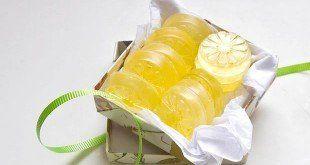 jabones de glicerina y limón