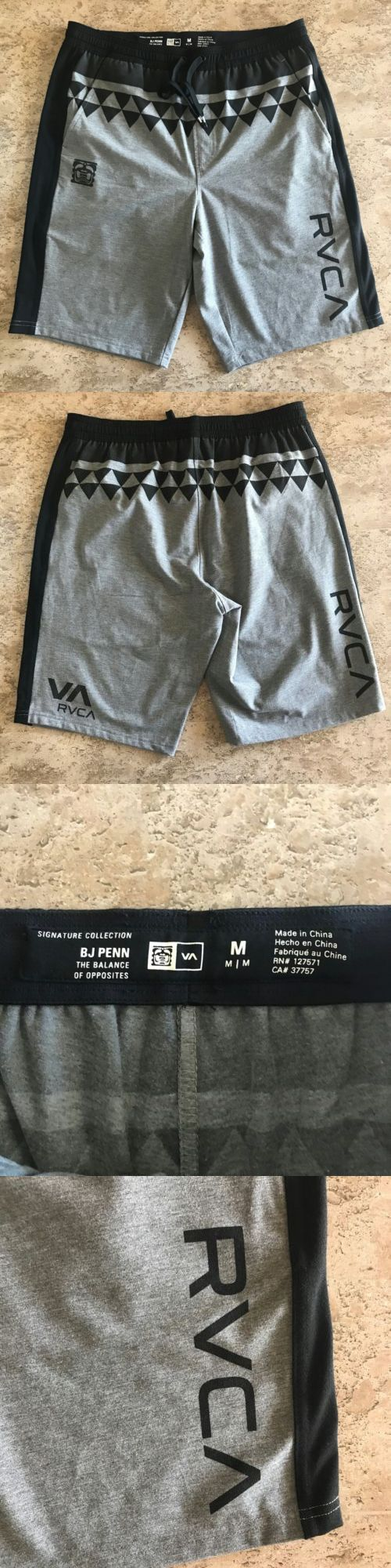 Shorts 73982: Rvca Ufc Mma Shorts Gray Black Med Xl Size New -Bj Penn Tahiti Look -> BUY IT NOW ONLY: $44 on eBay!
