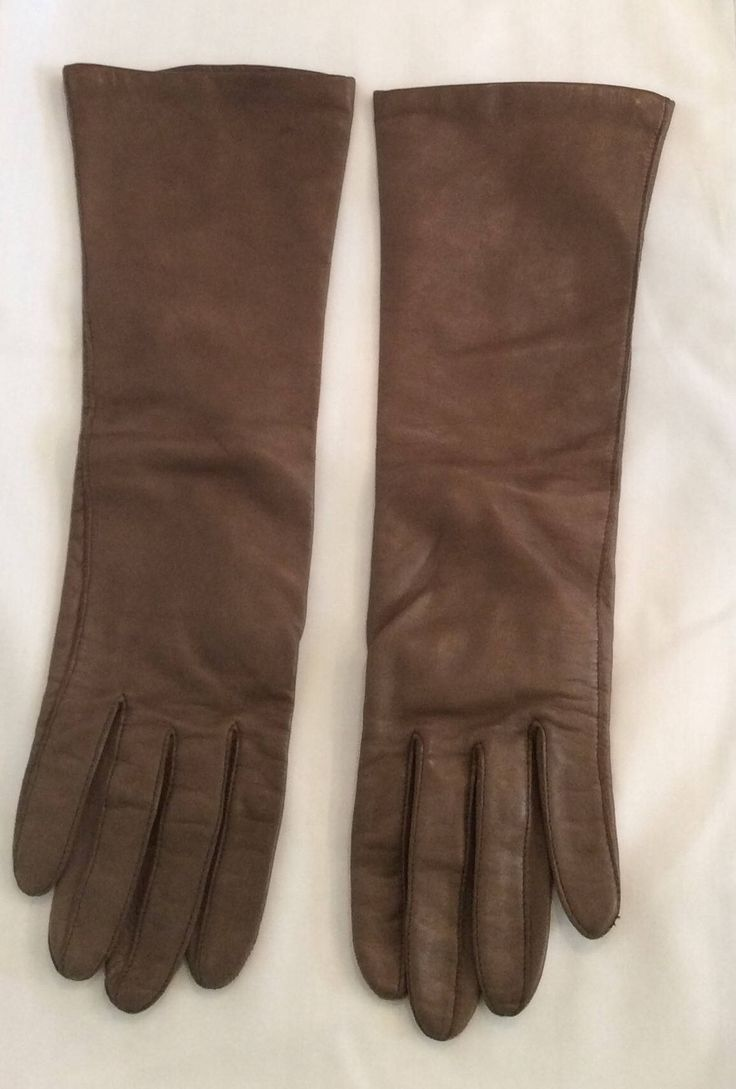 Fownes brown leather gloves women's vintage long size 7 by Vintageroyaleny on Etsy https://www.etsy.com/listing/515460478/fownes-brown-leather-gloves-womens