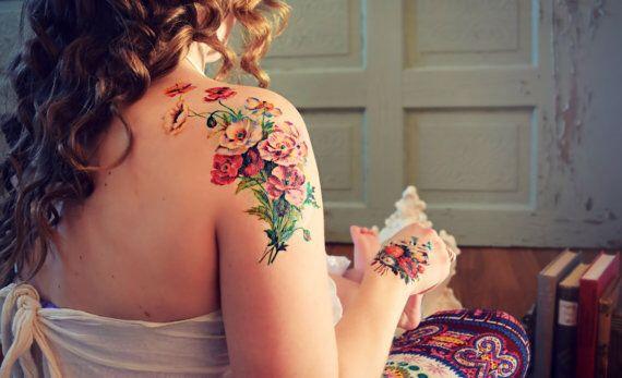 Birth Flower Bouquet Tattoo idea