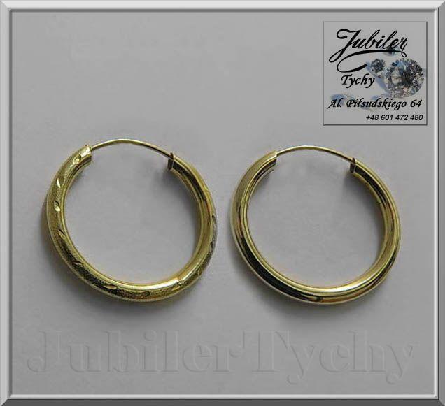 #Promocyjna #Cena ! #Okazja #Złote #Kolczyki #Koła #Grawerowane #Jubiler #Tychy #Gold #Jeweller #Tyski #Złotnik #jubilertychy #biżuteria #złota #Au585 #Promocje : http://jubilertychy.pl/promocje