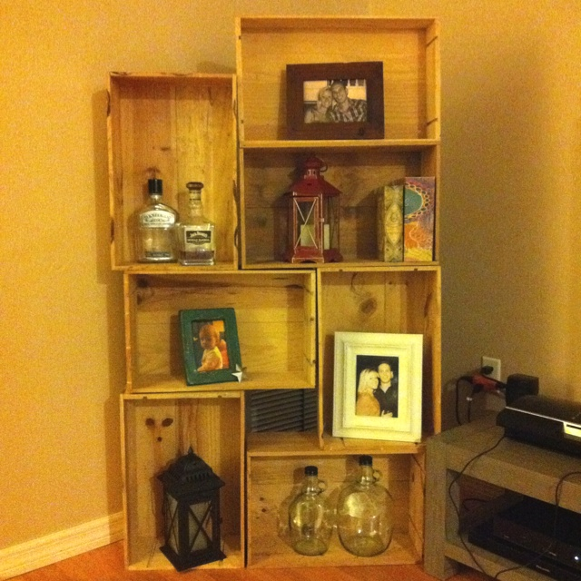 Wine Crate decorative shelving