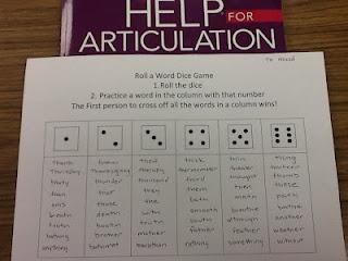 Liz's Speech Therapy Ideas: Roll a word articulation game: Speech Language, Words Articulation, Sight Words Games, Liz Speech, Speech Therapy, Dice Games, Slp Stuff, Therapy Ideas, Articulation Games