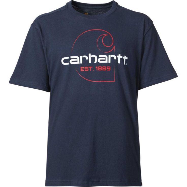 Carhartt Men's Maddock Faded C Graphic T-Shirt, Size: Medium, Blue