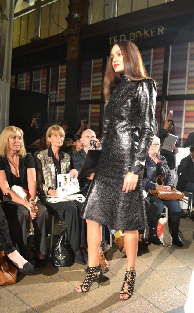 Harvey Nichols Leeds AW13 fashion show. Gucci dress, Sam Edelman shoes   angelinthenorth.com
