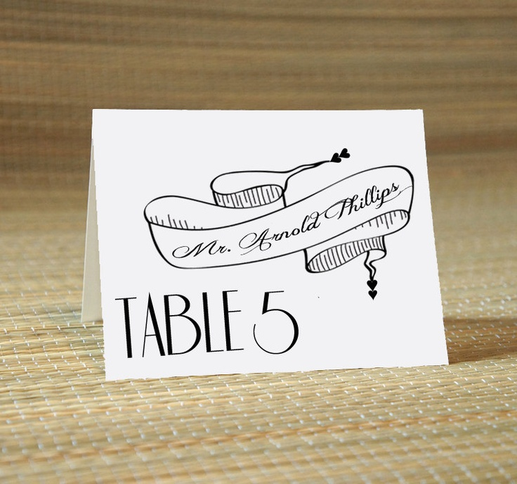 Wedding Calligraphy for Place Card Escort Card