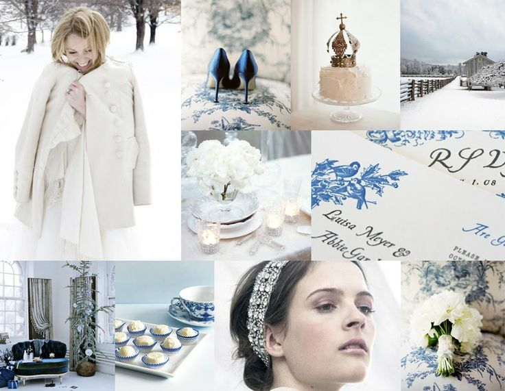 Winter wonderland/ Color Scheme... That is exactly the pallete of my wedding!