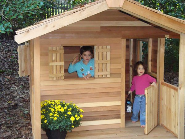 17 best images about cedar playhouse kits on pinterest for Shed playhouses