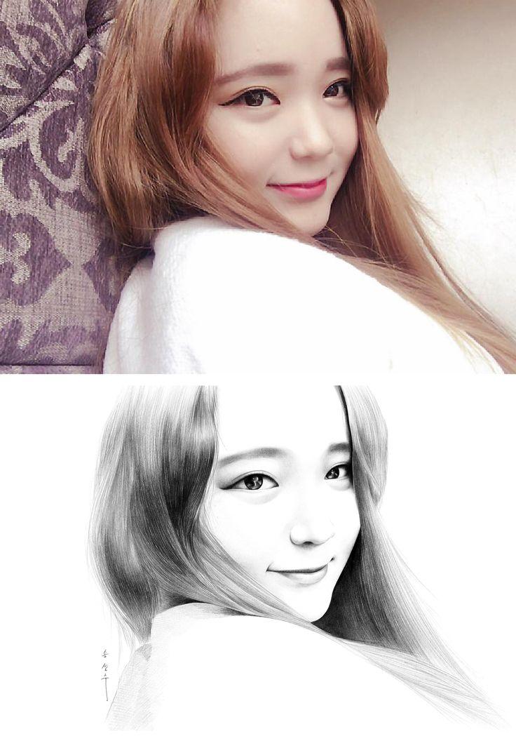 drawing / only sharp artist / sung su - song . korean  인물화, 초상화, 드로잉