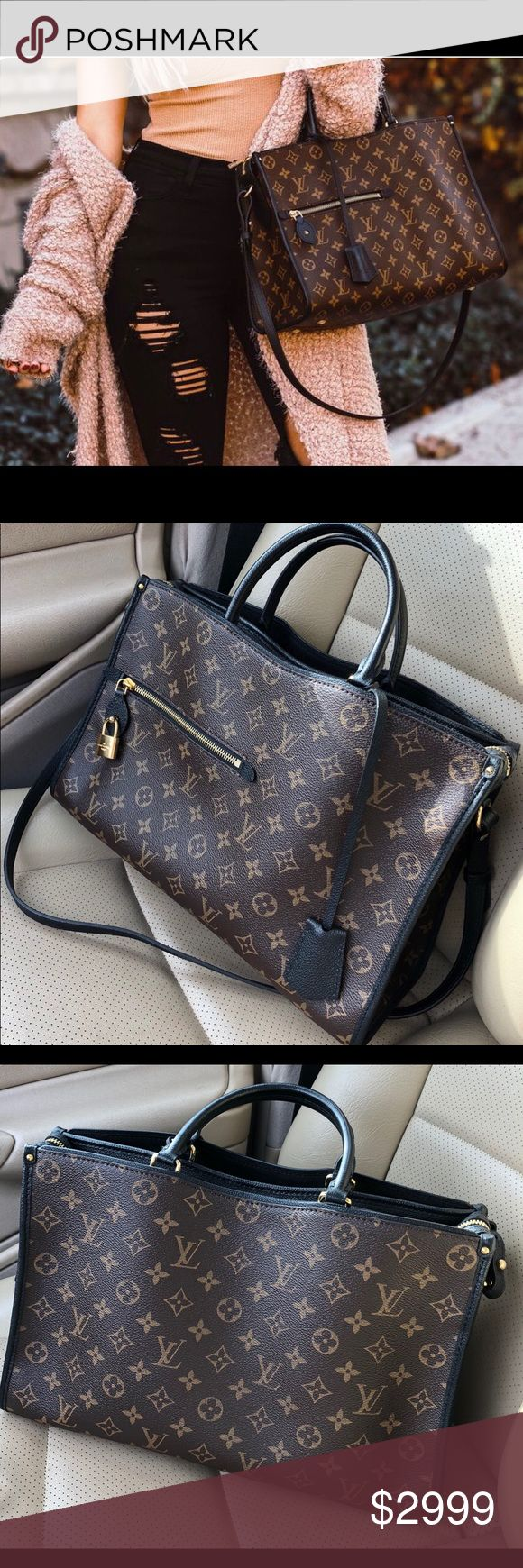 """Authentic Louis Vuitton Popincourt MM Brand new! Never used! This RARE stunning and sexy bag is sure to turn heads! Collapsible handles making this bag easily worn as a shoulder bag when not carried Satchel style! Comes with Louis Vuitton dust cover, original Louis Vuitton box and sku tag from store. Retail price $2865 with tax. Asking $2500 or best offer.   Measurements:   15"""" L x 5.5"""" W x 10"""" H Handle Drop: 5"""", 15"""" adjustable Louis Vuitton Bags Shoulder Bags"""