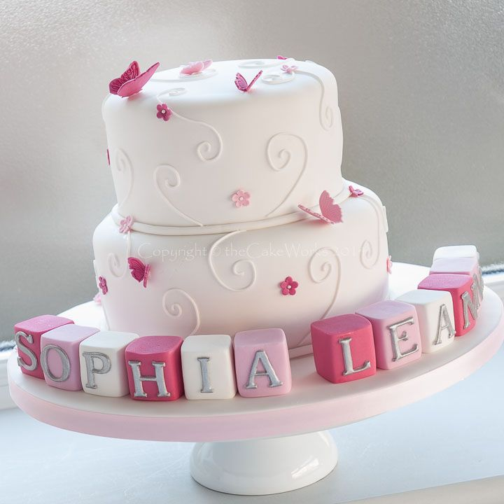 Cake Decorations For Christening Cake : Best 20+ Christening cake girls ideas on Pinterest