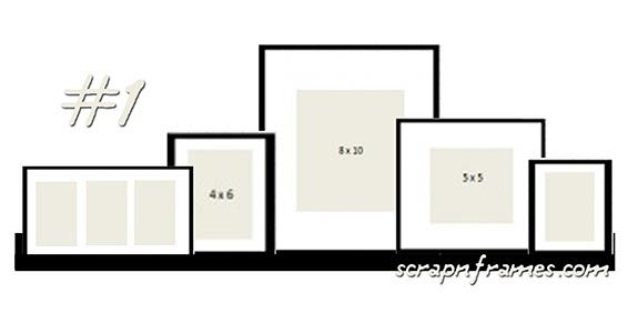Future wedding photo hallway arrangement?  gallery ledge arrangement (w/ ribba frames) - over the TV?