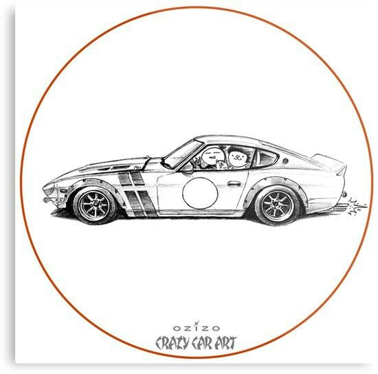 Crazy Car Art 0001 / metal print