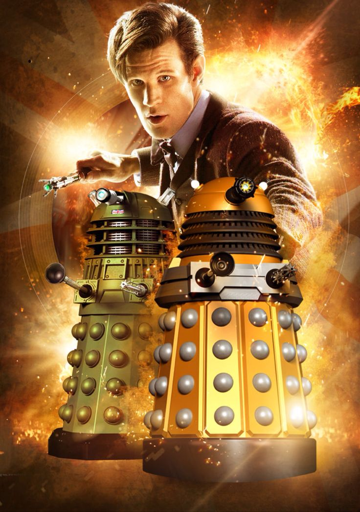 Doctor who matt smith 11th doctor and daleks a3 poster - Doctor who dalek pics ...