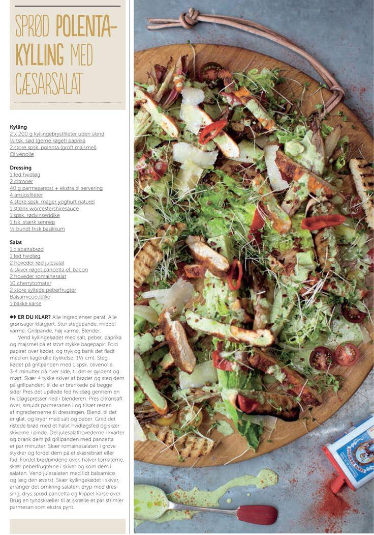 Sprød polentakylling med cæsarsalat - opskrift af Jamie Oliver for Silvan