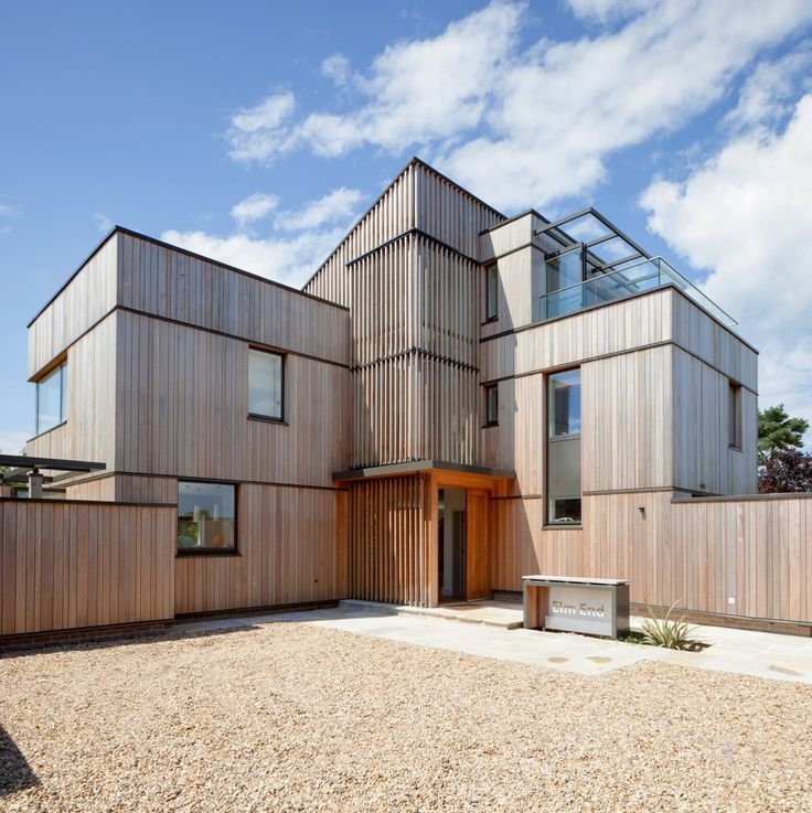 North Norfolk coastal house with cedar cladding and sun shading