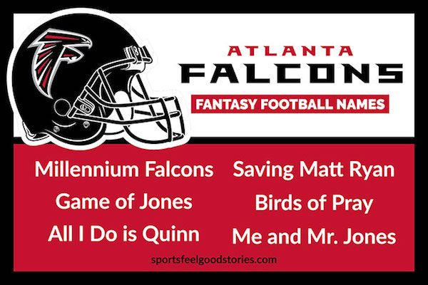 Atlanta Falcons Fantasy Football Names Nfl Team Fantasy Football Names Cool Fantasy Football Names Football Names