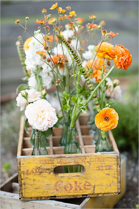 orange wedding flower ideas