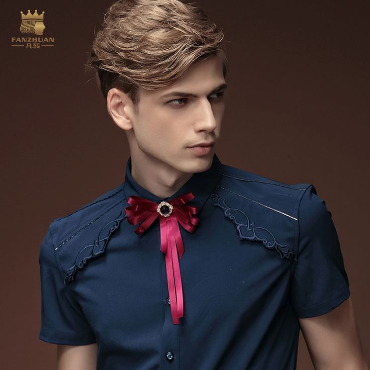 FANZHUAN-Men-Summer-Dark-Blue-Sllim-Short-Sleeve-Shirt-15332.jpg (800×800)