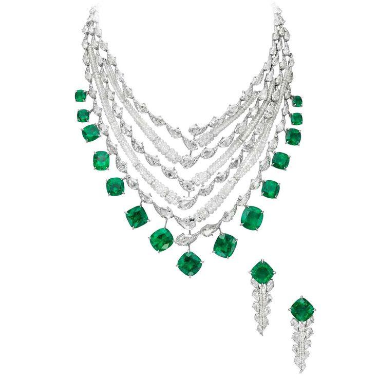 Buy Kundan Choker Necklace Priya Nacc10438c: Esmeralda Colombiana Boghossian Y Collar De Diamantes
