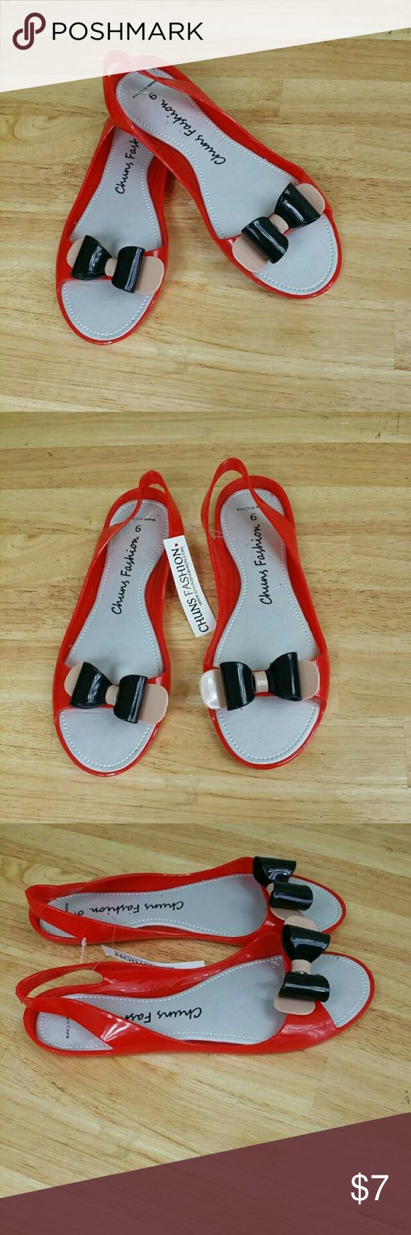 Women's jelly sandals size 10 - Chuns Fashion Women S Jelly Bow Tie Sandals Chuns Fashion Women S Jelly Sandals Summer Collection