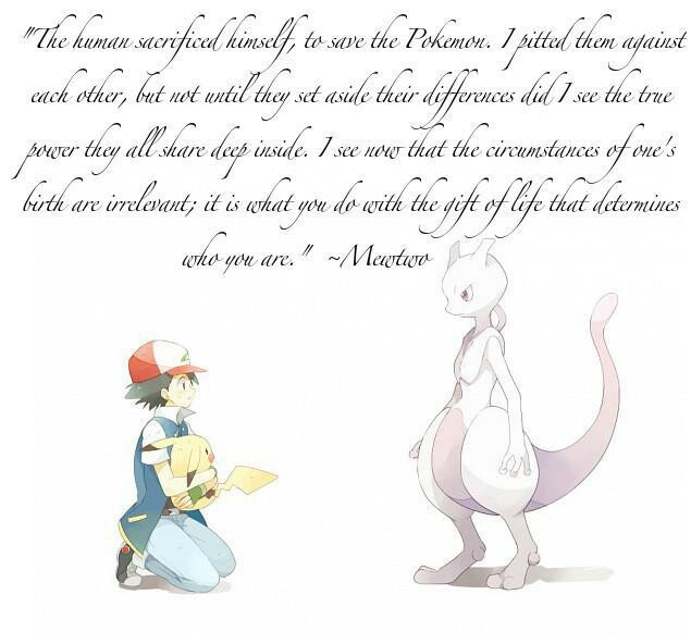Inspirational Quote Red On Pinterest: Get This.... The Quote Was From Mewtwo, An Animated