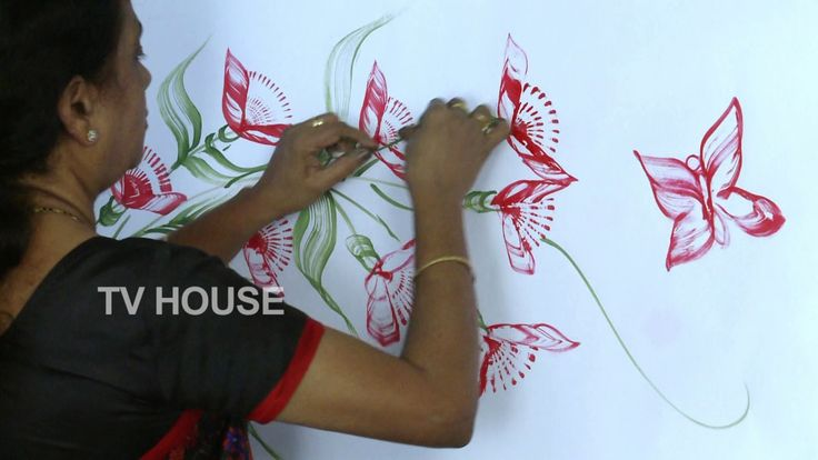 how to make thread painting