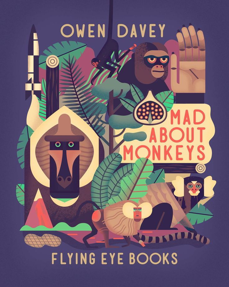 Mad about Monkeys by Owen Davey. Age: 9+.  Themes: non-fiction, natural world.  Description: Monkeys, monkeys, monkeys! Ever wondered about our simian friends and what makes them so special? With over 250 species inhabiting our planet, this book explores the many different types of monkeys from the smallest Pygmy Marmoset to the largest Mandrill, and provides all the facts you wanted to know and more. Discover where monkeys come from, how they swing from tree to tree, and why they fight and…