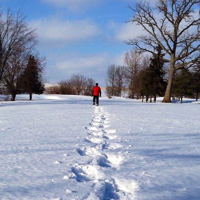 Snowshoeing, Conestogo, ON