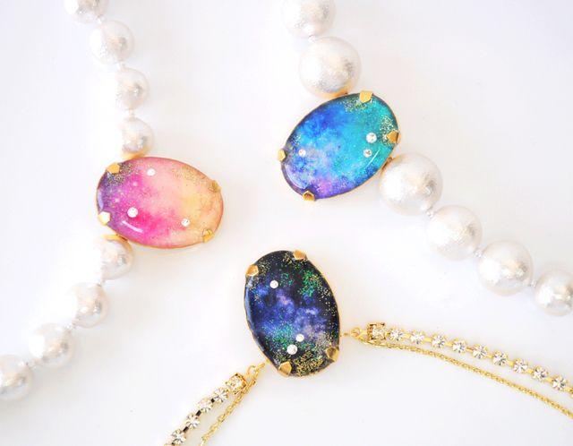 宇宙の宝石ネックレス
