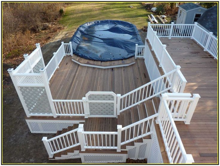 Multi level deck above ground pool home design for Multi level deck above ground pool