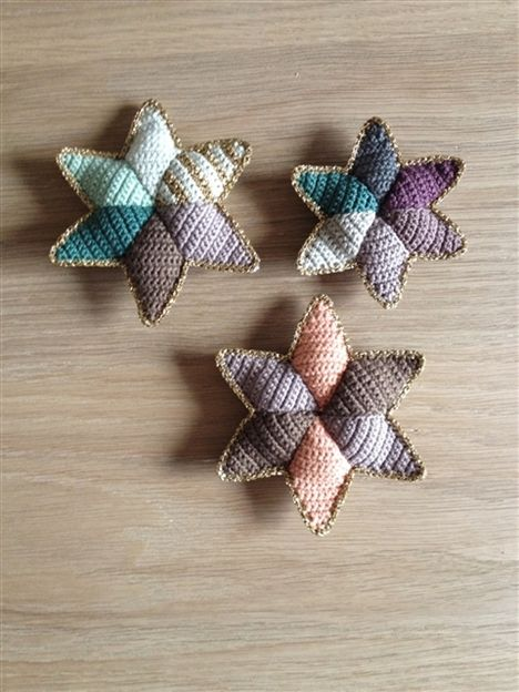 Crocheted stars (just a photo, no instructions)
