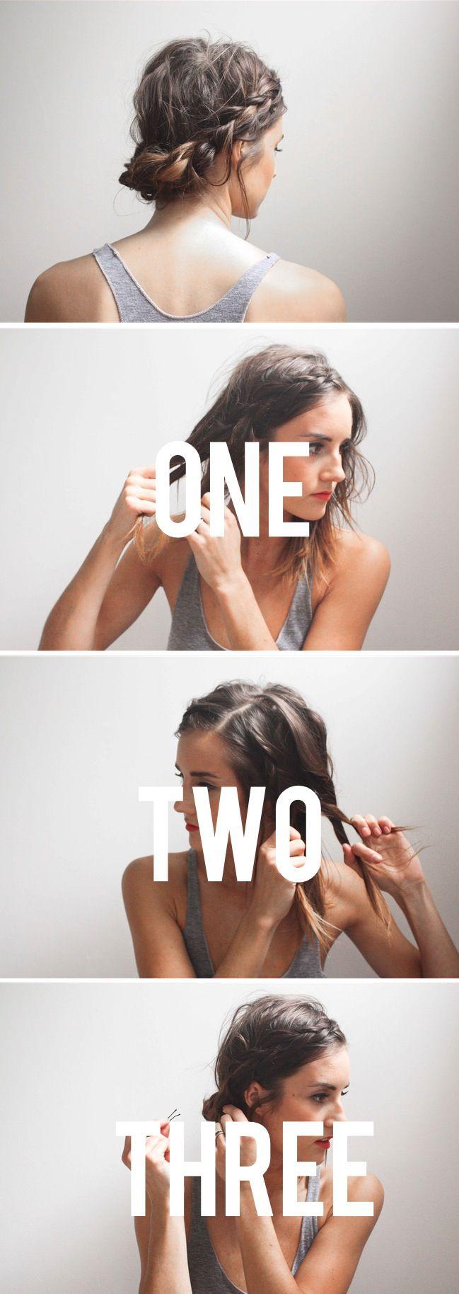 2 minute take on the milkmaid braid #howto #hair #tutorial