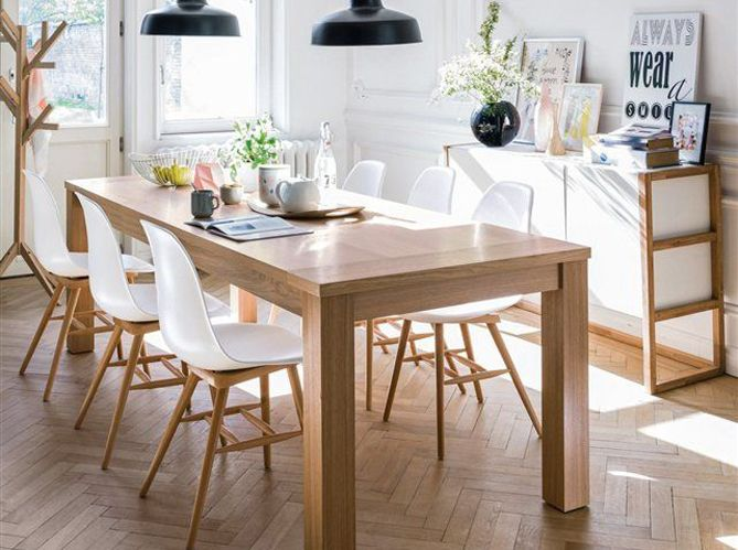 17 meilleures id es propos de chaises blanches sur - Quelle couleur pour une salle a manger ...