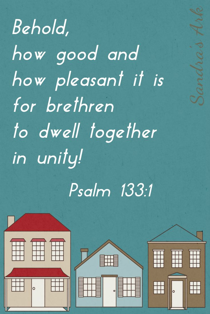 Sandra's Ark: Pondering the Psalms - Psalm 133