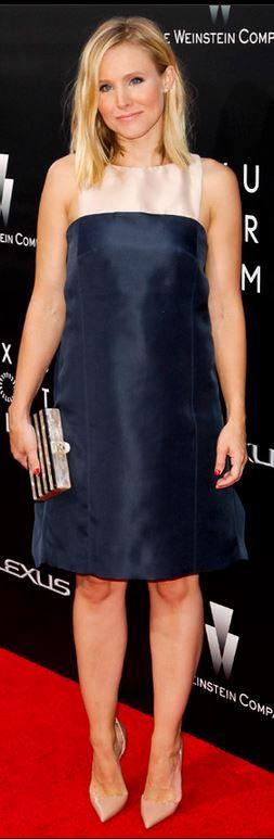Kristen Bell: Dress – Monique Lhuillier  Purse – Edie Parker  Shoes – Christian Louboutin