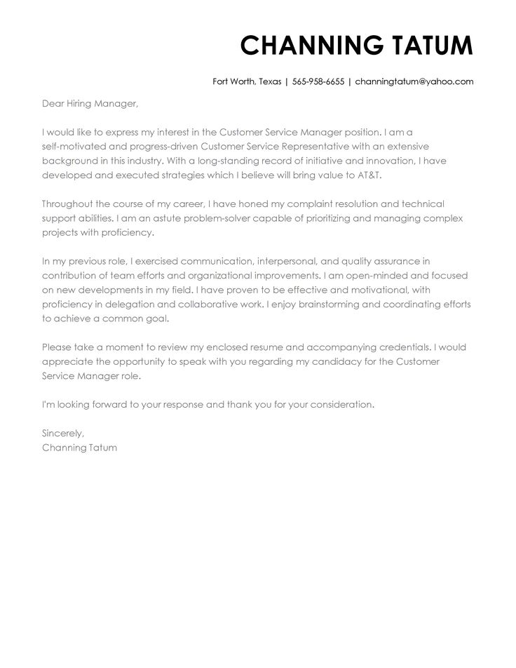 Cover Letter Examples Write the Perfect Cover letter