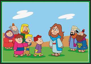 VISUAIS PARA HISTORIAS BIBLICAS: HISTORIA JESUS E AS CRIANÇAS - MATEUS 19:13-15