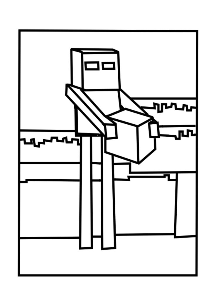 These Free Minecraft Enderman Coloring Pages Will Delight Younger Fans