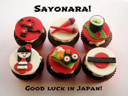 Sayonara! Japanese Going Away Cupcakes