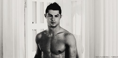 Look at Cristiano's body. Can't even handle it.