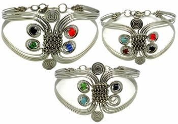 Free Spirit Silver Plated Copper Cuff Bracelet - pagan wiccan witchcraft magick ritual supplies
