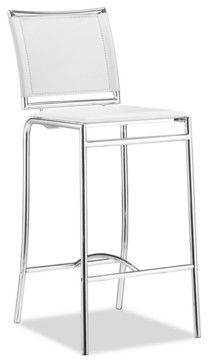Zuo Soar Barstool in White [Set of 2] - modern - Bar Stools And Counter Stools - Beyond Stores