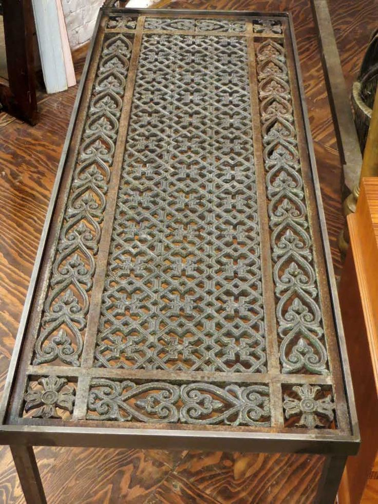 Coffee table made from decorative salvaged iron: Architectural Salvage Online Store, Buy Altered Antiques | OGTstore.com