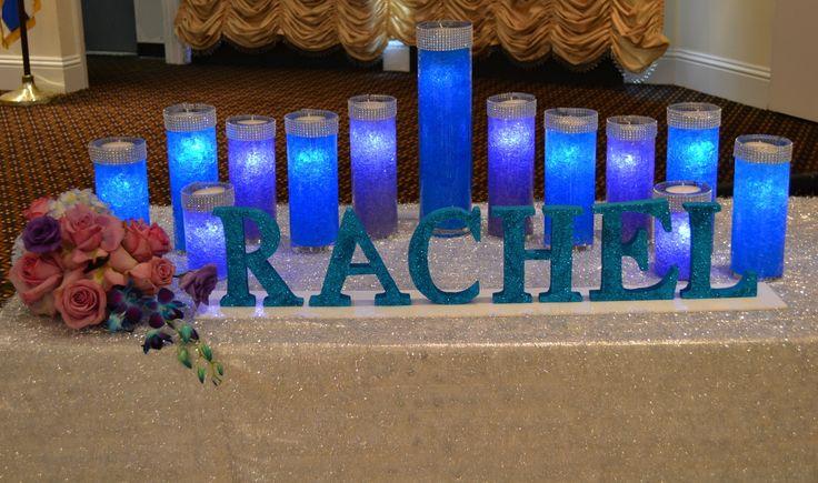 Bat Mitzvah Candle lighting Display Party Perfect, Boca Raton, FL 1(561)994-8833