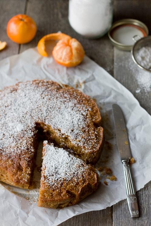 gâteau à la farine de châtaignes et mandarines