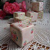Для дома и интерьера ручной работы. Ярмарка Мастеров - ручная работа Набор интерьерных кубиков в стиле прованс  6 шт. Handmade.